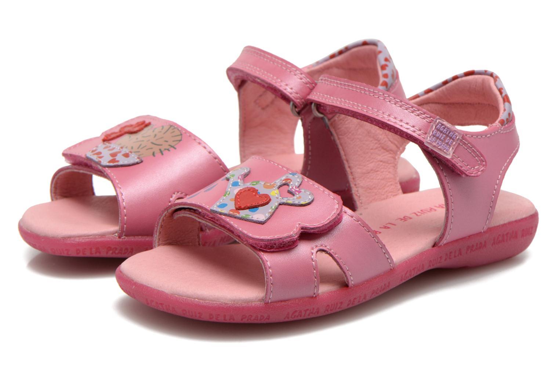 Sandals Agatha Ruiz de la Prada Jardino Pink 3/4 view