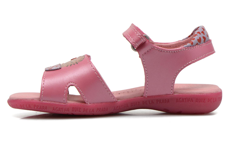 Sandals Agatha Ruiz de la Prada Jardino Pink front view