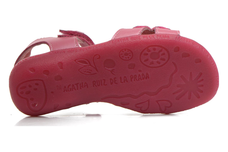 Sandales et nu-pieds Agatha Ruiz de la Prada Jardino Rose vue haut