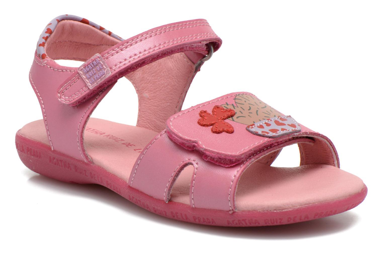 Sandals Agatha Ruiz de la Prada Jardino Pink detailed view/ Pair view