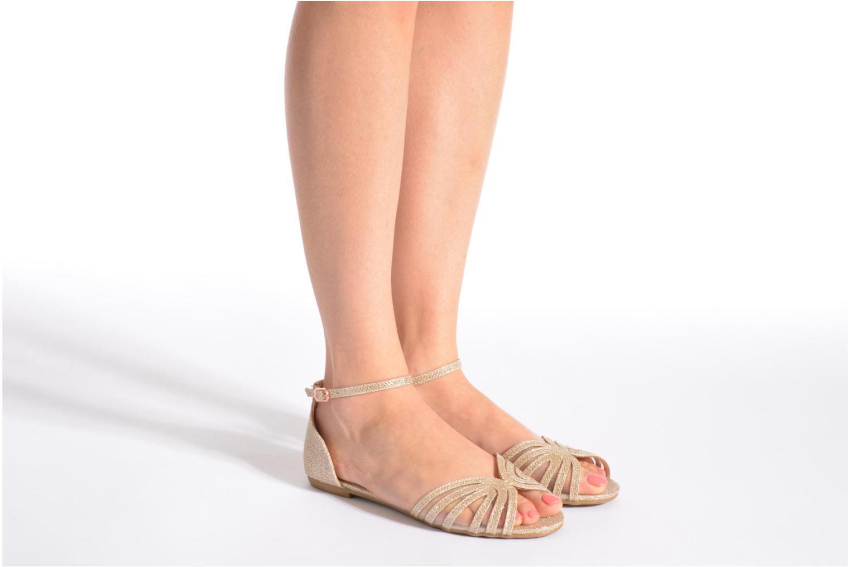 Sandales et nu-pieds I Love Shoes Kivipa Argent vue bas / vue portée sac