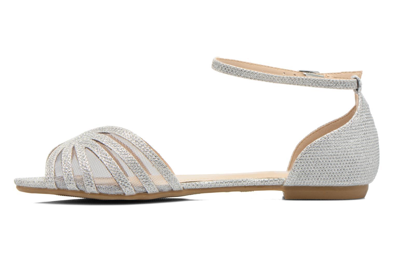 Sandales et nu-pieds I Love Shoes Kivipa Argent vue face