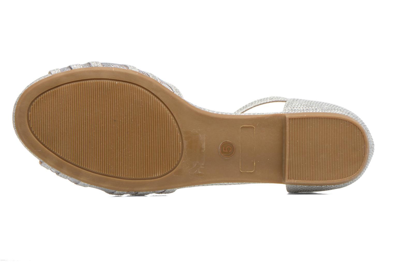 Sandales et nu-pieds I Love Shoes Kivipa Argent vue haut