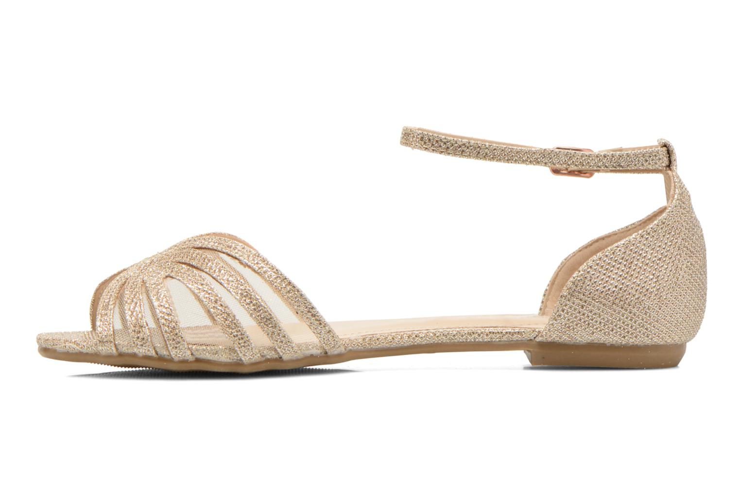 Sandals I Love Shoes Kivipa Bronze and Gold front view