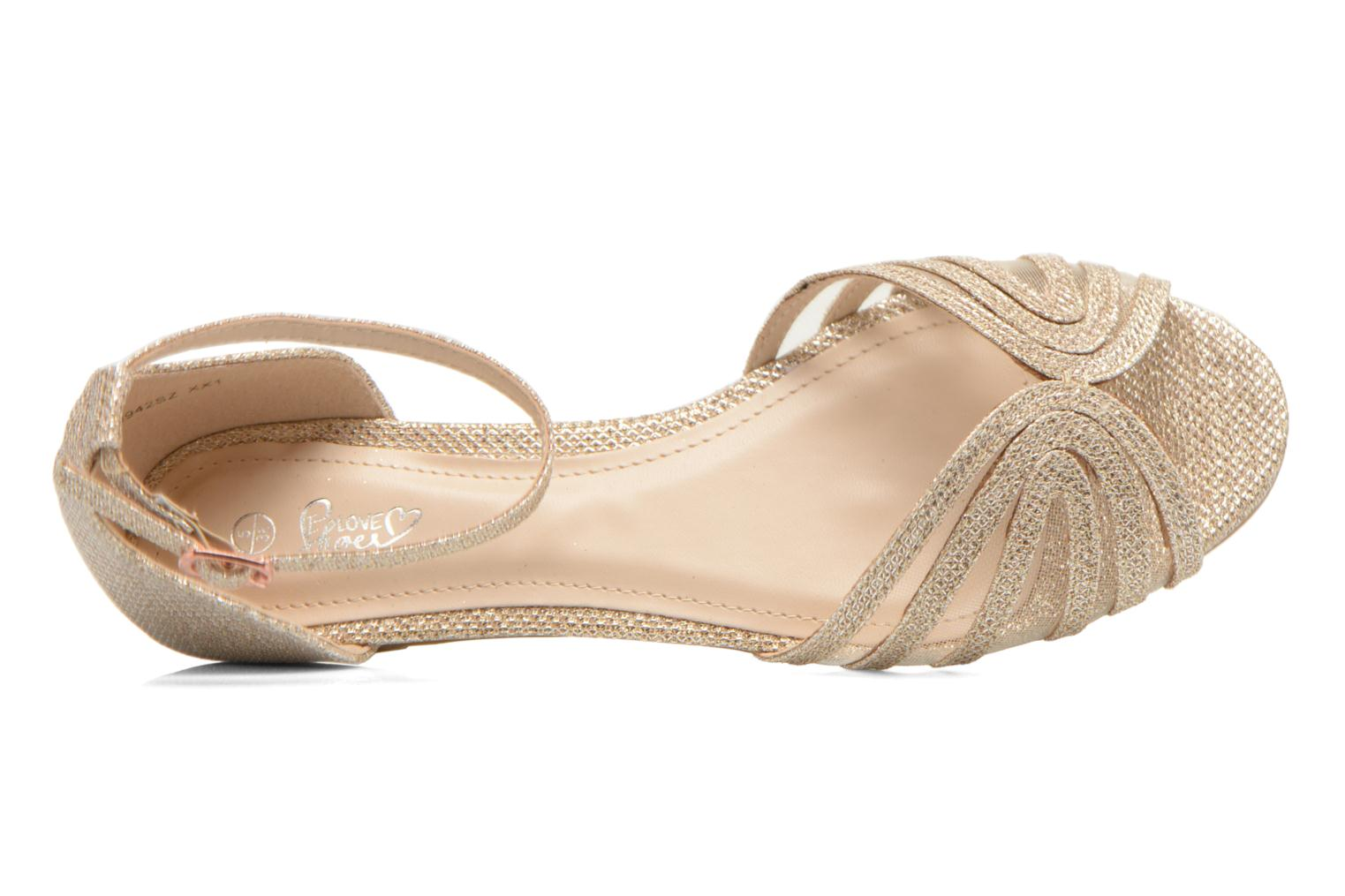 Sandalen I Love Shoes Kivipa gold/bronze ansicht von links