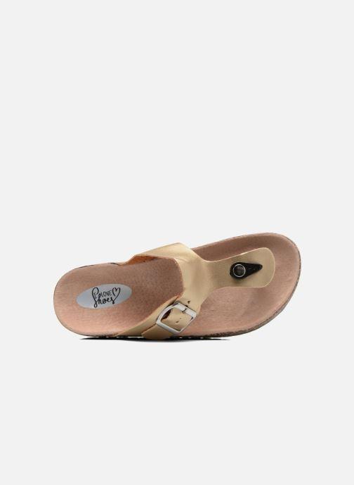 Sandales et nu-pieds I Love Shoes Kirtui Or et bronze vue gauche