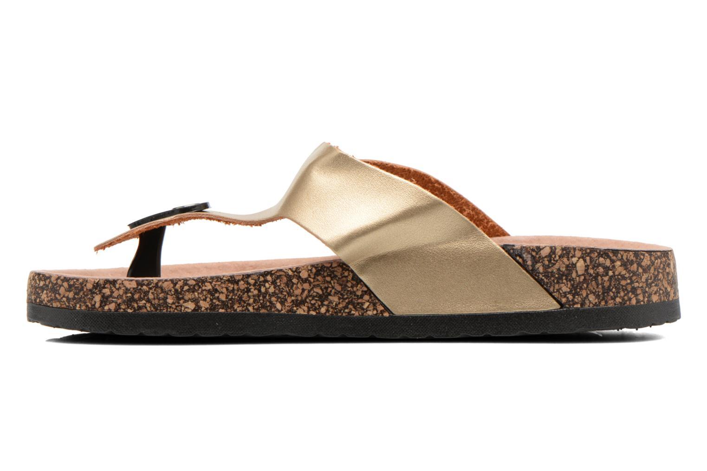 Sandales et nu-pieds I Love Shoes Kirtui Or et bronze vue face