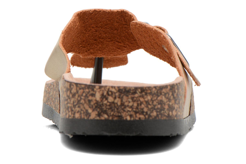 Sandales et nu-pieds I Love Shoes Kirtui Or et bronze vue droite