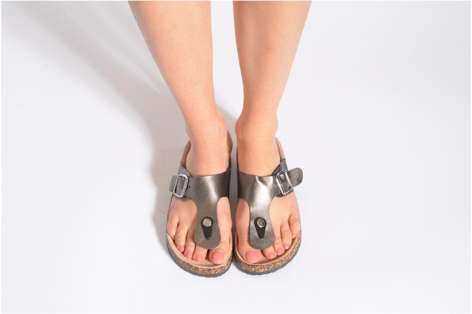 Sandals I Love Shoes Kirtui Black view from underneath / model view