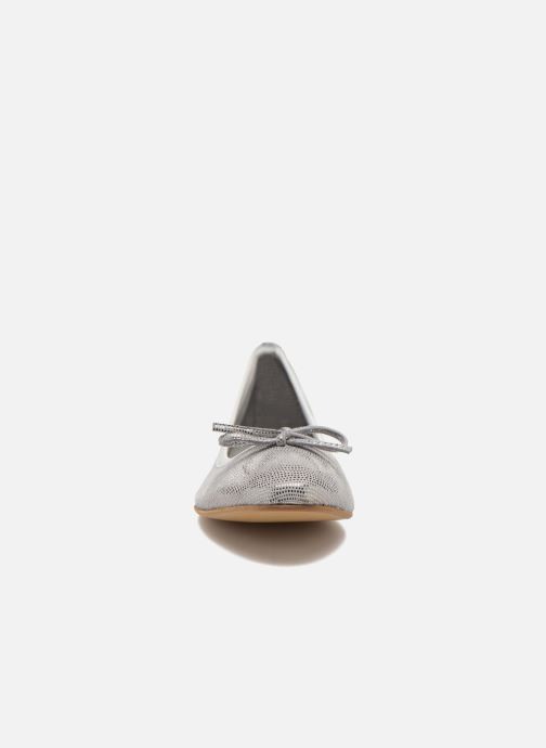 Ballerines JB MARTIN Vahiti Argent vue portées chaussures