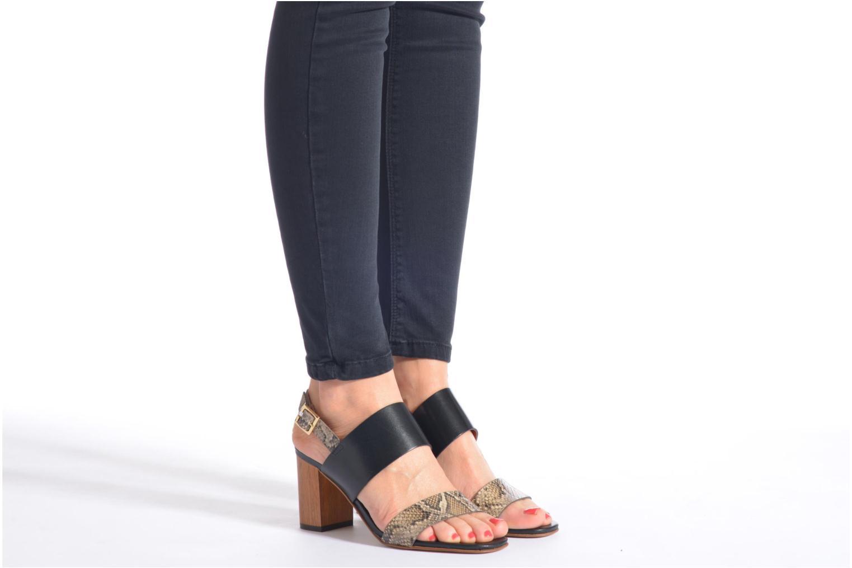 Sandales et nu-pieds JB MARTIN 1Helma Noir vue bas / vue portée sac
