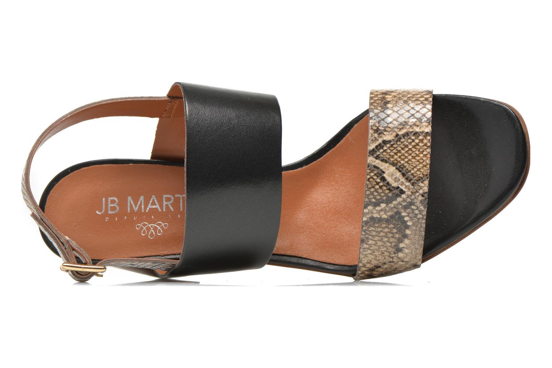 Sandales et nu-pieds JB MARTIN 1Helma Noir vue gauche