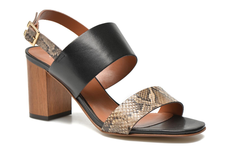 Sandales et nu-pieds JB MARTIN 1Helma Noir vue détail/paire