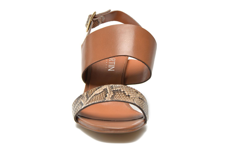 Sandales et nu-pieds JB MARTIN 1Helma Marron vue portées chaussures
