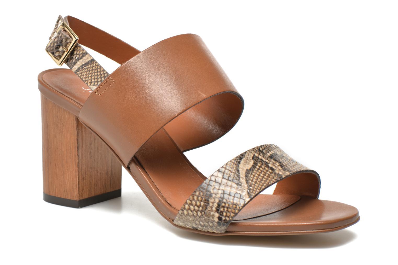 Sandales et nu-pieds JB MARTIN 1Helma Marron vue détail/paire