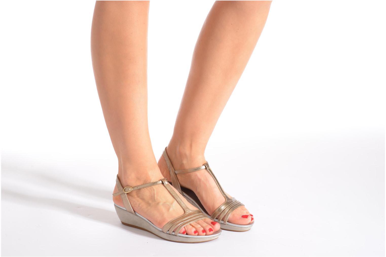 Sandales et nu-pieds JB MARTIN Benji Or et bronze vue bas / vue portée sac