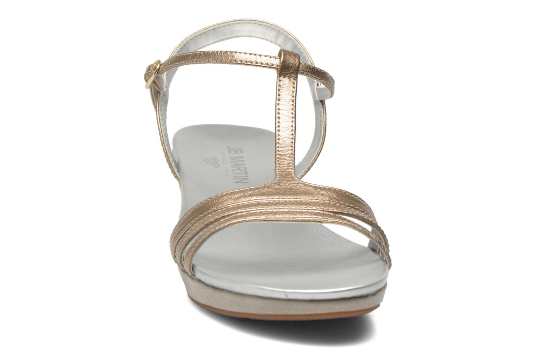 Sandales et nu-pieds JB MARTIN Benji Or et bronze vue portées chaussures