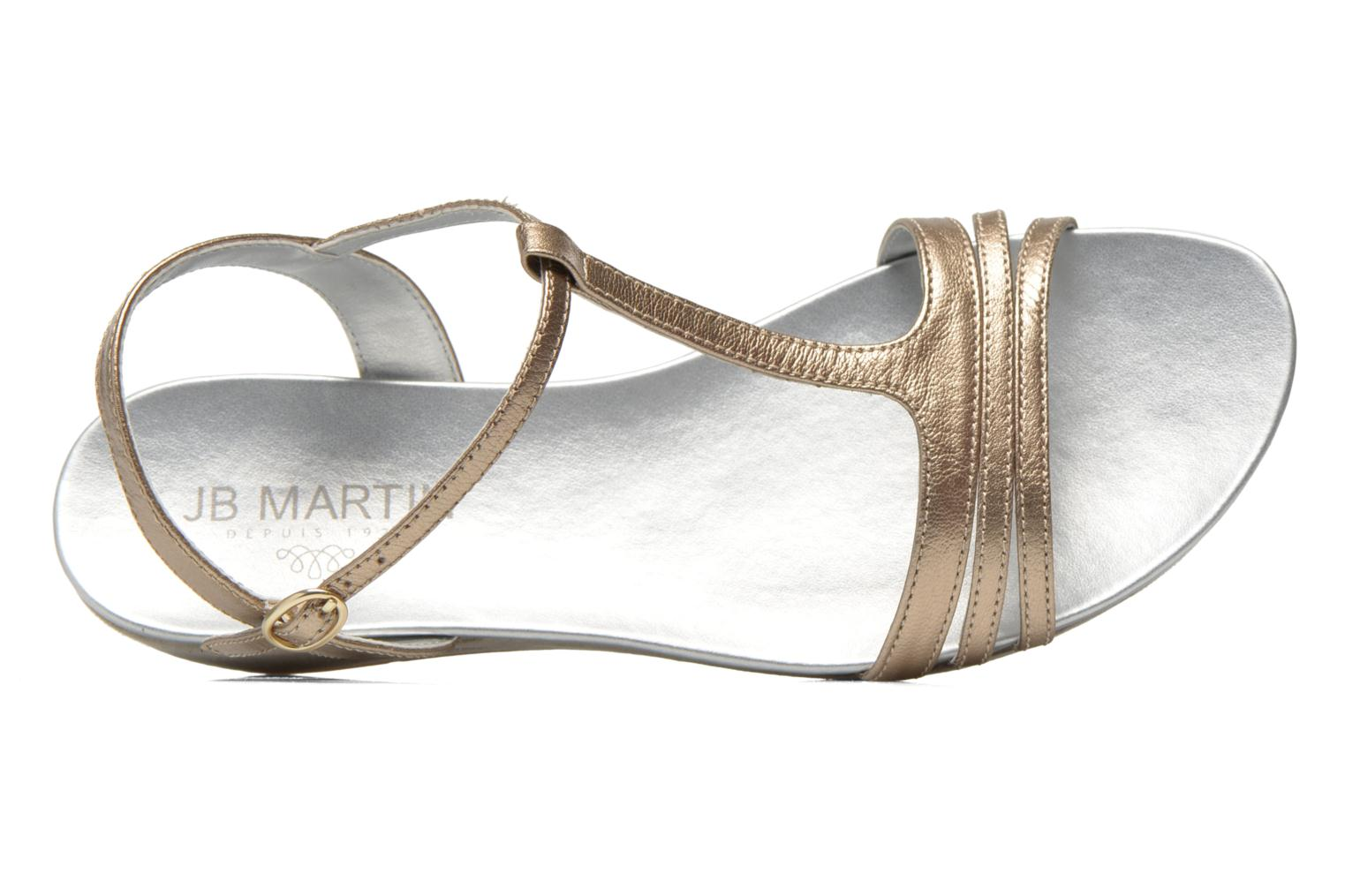 Sandals JB MARTIN Benji Bronze and Gold view from the left