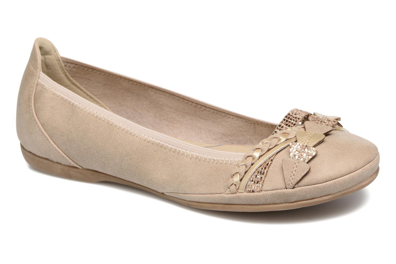 Ballerinaer Marco Tozzi Kilina Beige detaljeret billede af skoene