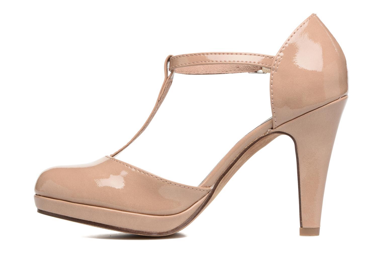 Zapatos de tacón Marco Tozzi Talia Beige vista de frente