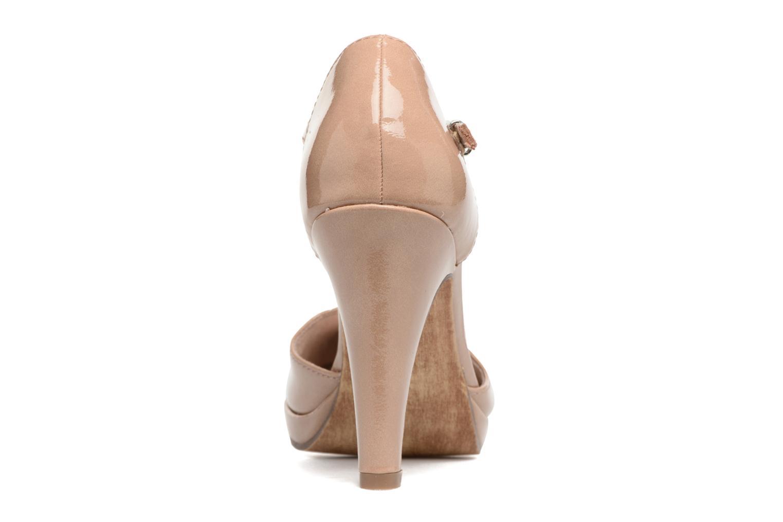 Zapatos de tacón Marco Tozzi Talia Beige vista lateral derecha