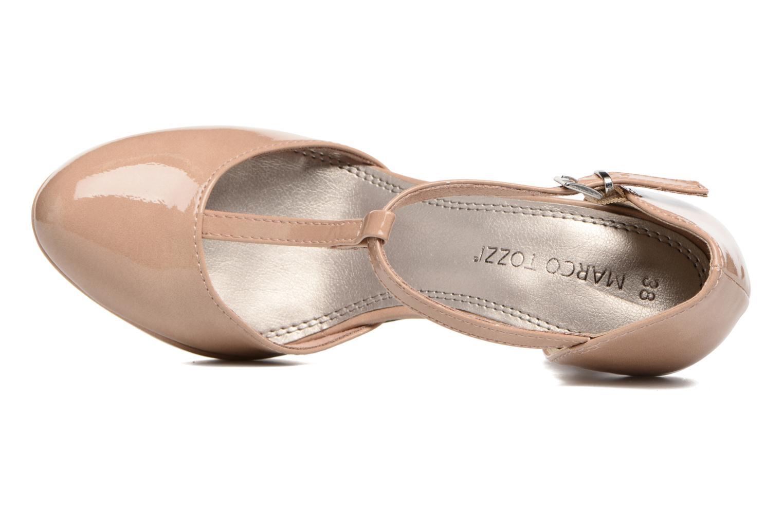 Zapatos de tacón Marco Tozzi Talia Beige vista lateral izquierda