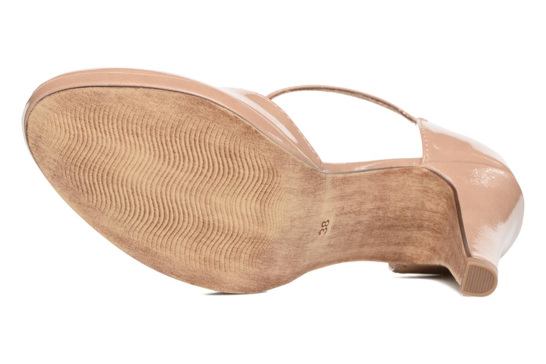 Zapatos de tacón Marco Tozzi Talia Beige vista de arriba