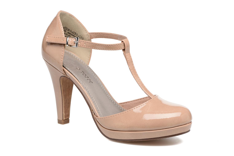 Zapatos de tacón Marco Tozzi Talia Beige vista de detalle / par