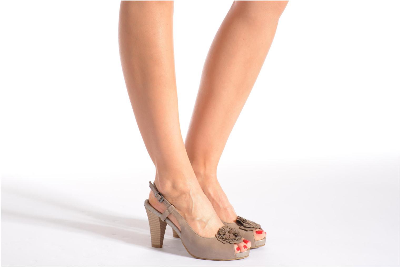Sandales et nu-pieds Marco Tozzi Polinna 2 Beige vue bas / vue portée sac