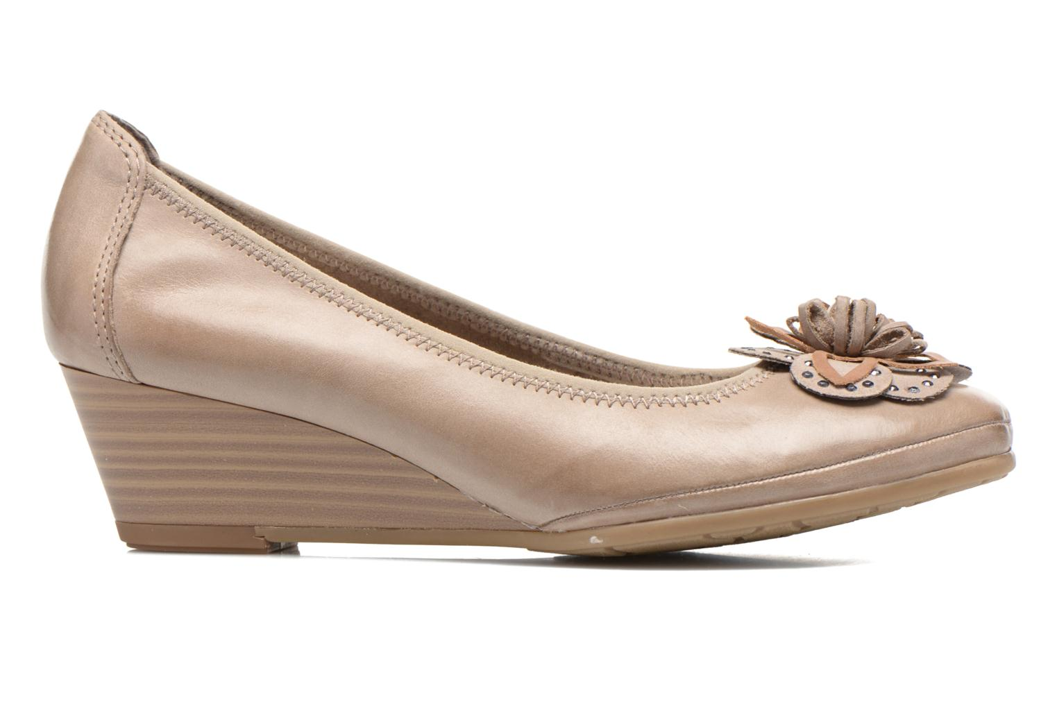 High heels Marco Tozzi Nikuta Beige back view