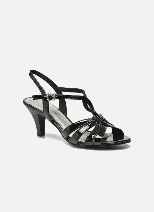 Sandaler Marco Tozzi Anafi Sort detaljeret billede af skoene