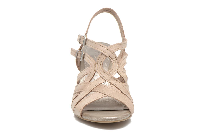 Sandales et nu-pieds Marco Tozzi Pluma Beige vue portées chaussures