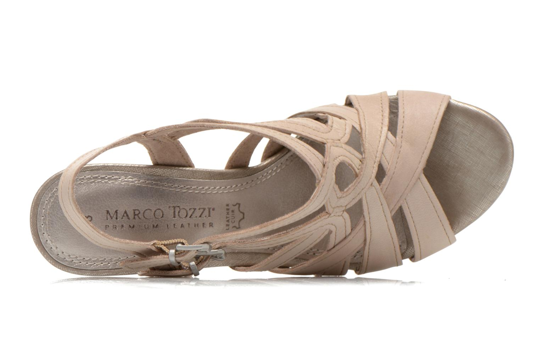 Sandales et nu-pieds Marco Tozzi Pluma Beige vue gauche