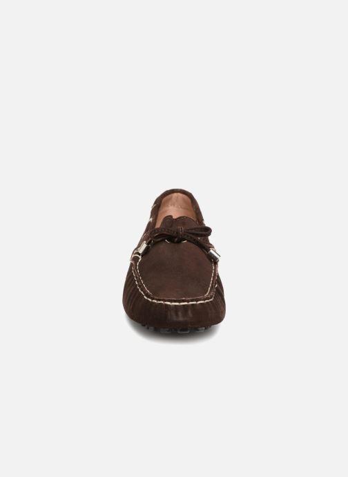 Mocassins Elizabeth Stuart Divan 606 Marron vue portées chaussures