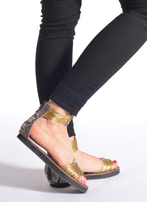 Sandales et nu-pieds Elizabeth Stuart Pexy 871 Gris vue bas / vue portée sac