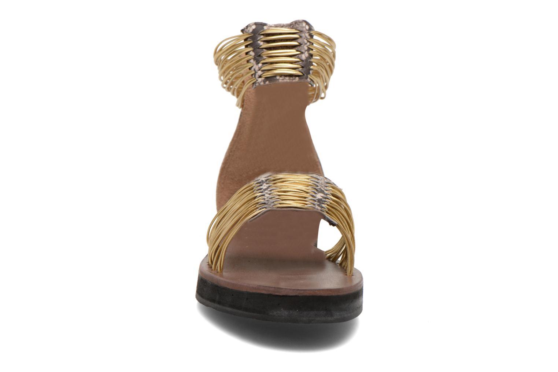 Sandales et nu-pieds Elizabeth Stuart Pexy 871 Or et bronze vue portées chaussures