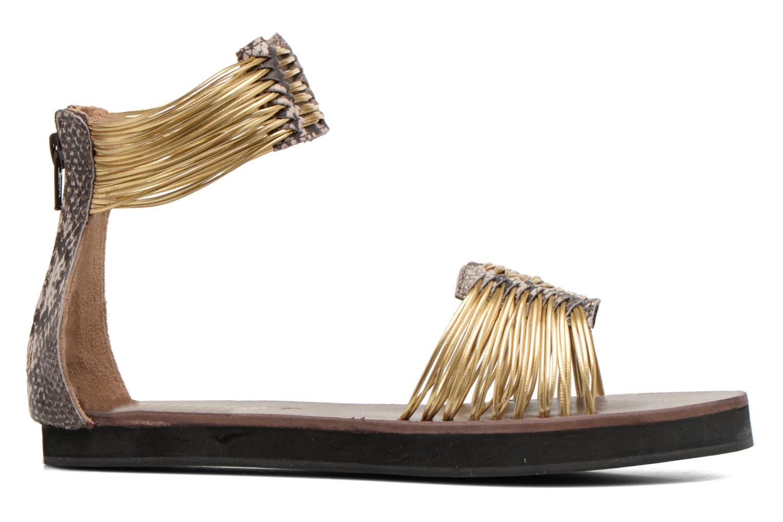 Sandales et nu-pieds Elizabeth Stuart Pexy 871 Or et bronze vue derrière