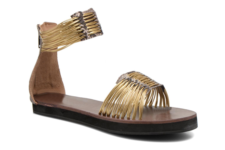 Sandales et nu-pieds Elizabeth Stuart Pexy 871 Or et bronze vue détail/paire