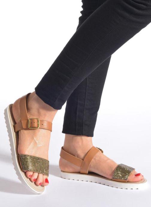 Sandales et nu-pieds Elizabeth Stuart Palais 875 Marron vue bas / vue portée sac