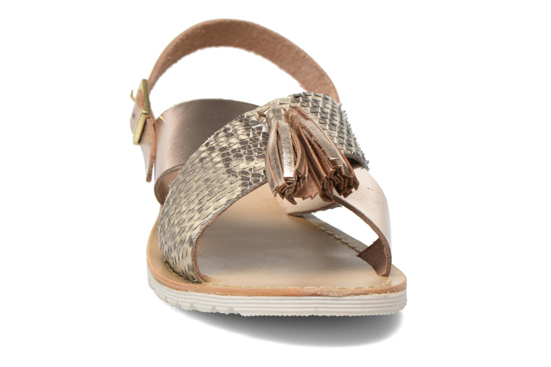 Sandales et nu-pieds Elizabeth Stuart Polka 882 Or et bronze vue portées chaussures