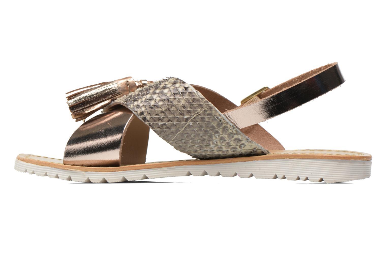 Sandales et nu-pieds Elizabeth Stuart Polka 882 Or et bronze vue face