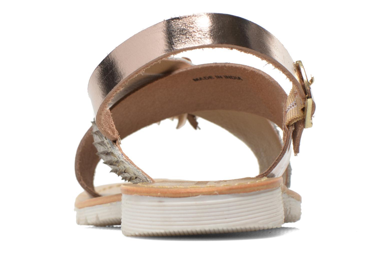 Sandales et nu-pieds Elizabeth Stuart Polka 882 Or et bronze vue droite