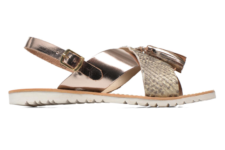 Sandales et nu-pieds Elizabeth Stuart Polka 882 Or et bronze vue derrière