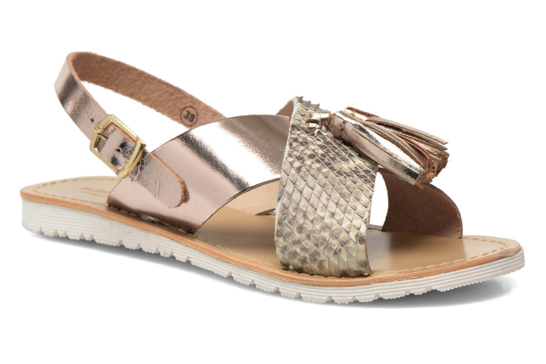 Sandales et nu-pieds Elizabeth Stuart Polka 882 Or et bronze vue détail/paire