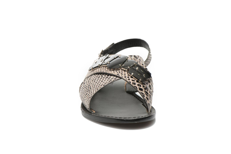 Sandales et nu-pieds Elizabeth Stuart Halias 889 Gris vue portées chaussures