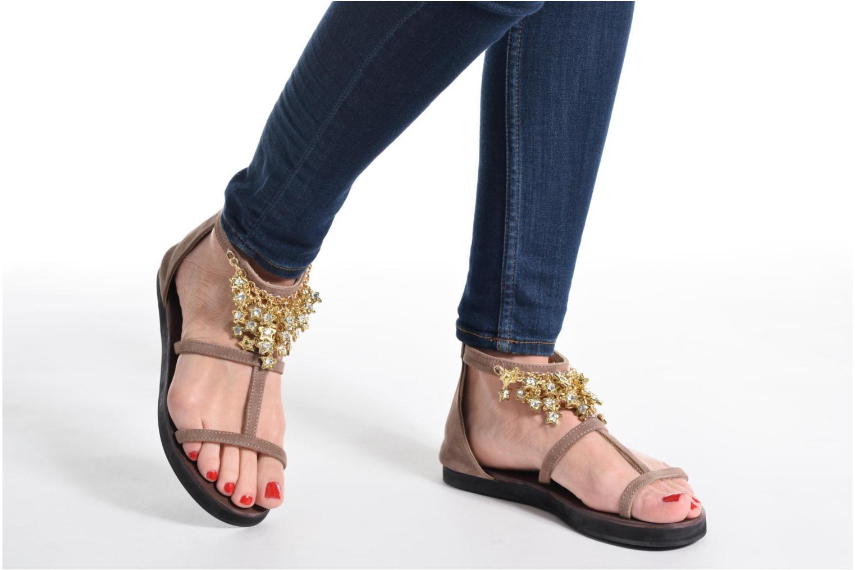 Sandales et nu-pieds Elizabeth Stuart Peps 606 Noir vue bas / vue portée sac
