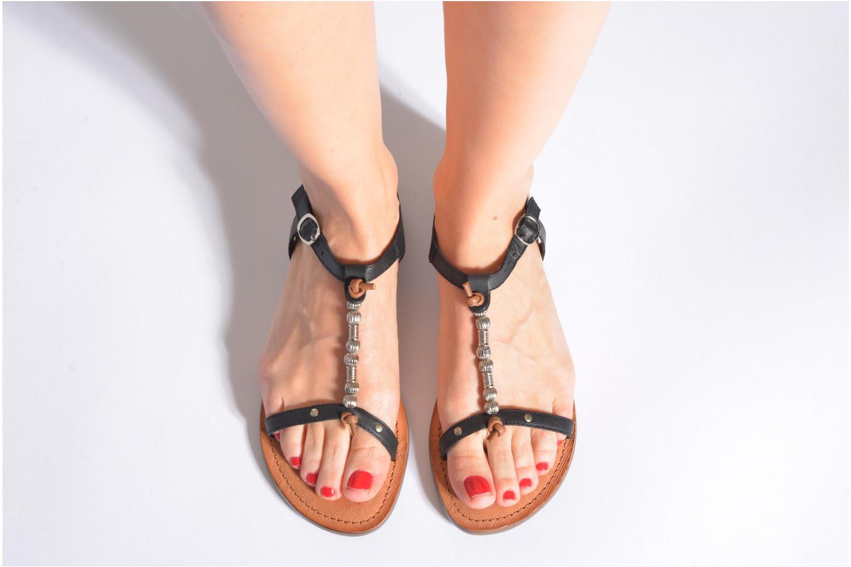 Sandales et nu-pieds Tamaris Famala Noir vue bas / vue portée sac