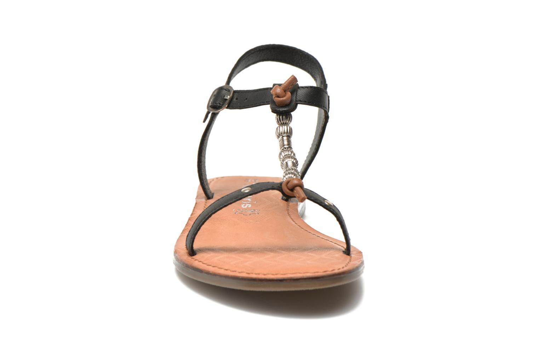 Sandales et nu-pieds Tamaris Famala Noir vue portées chaussures