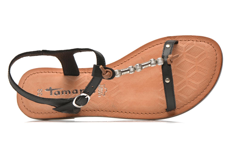 Sandales et nu-pieds Tamaris Famala Noir vue gauche
