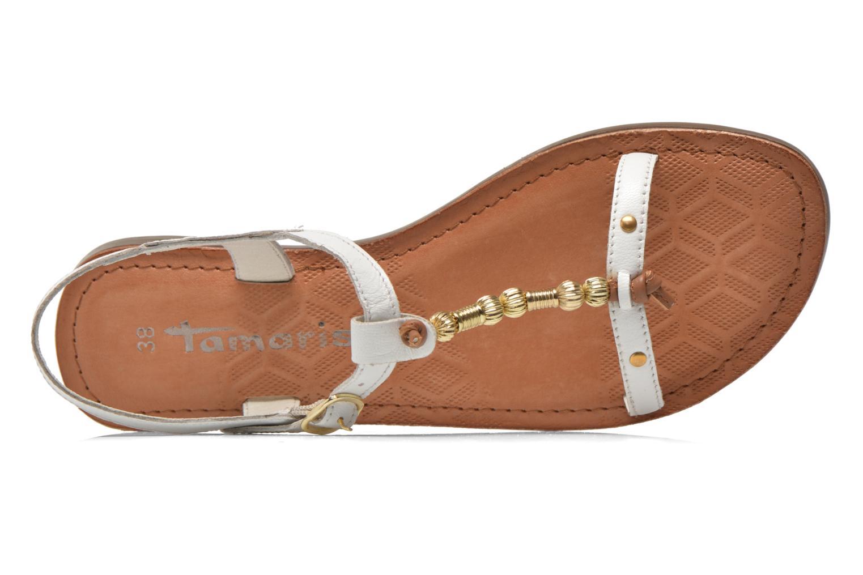 Sandales et nu-pieds Tamaris Famala Blanc vue gauche